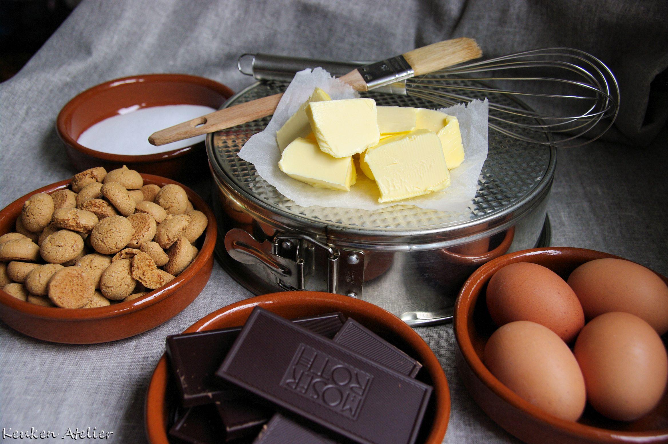 chocolade amaretti taart 1