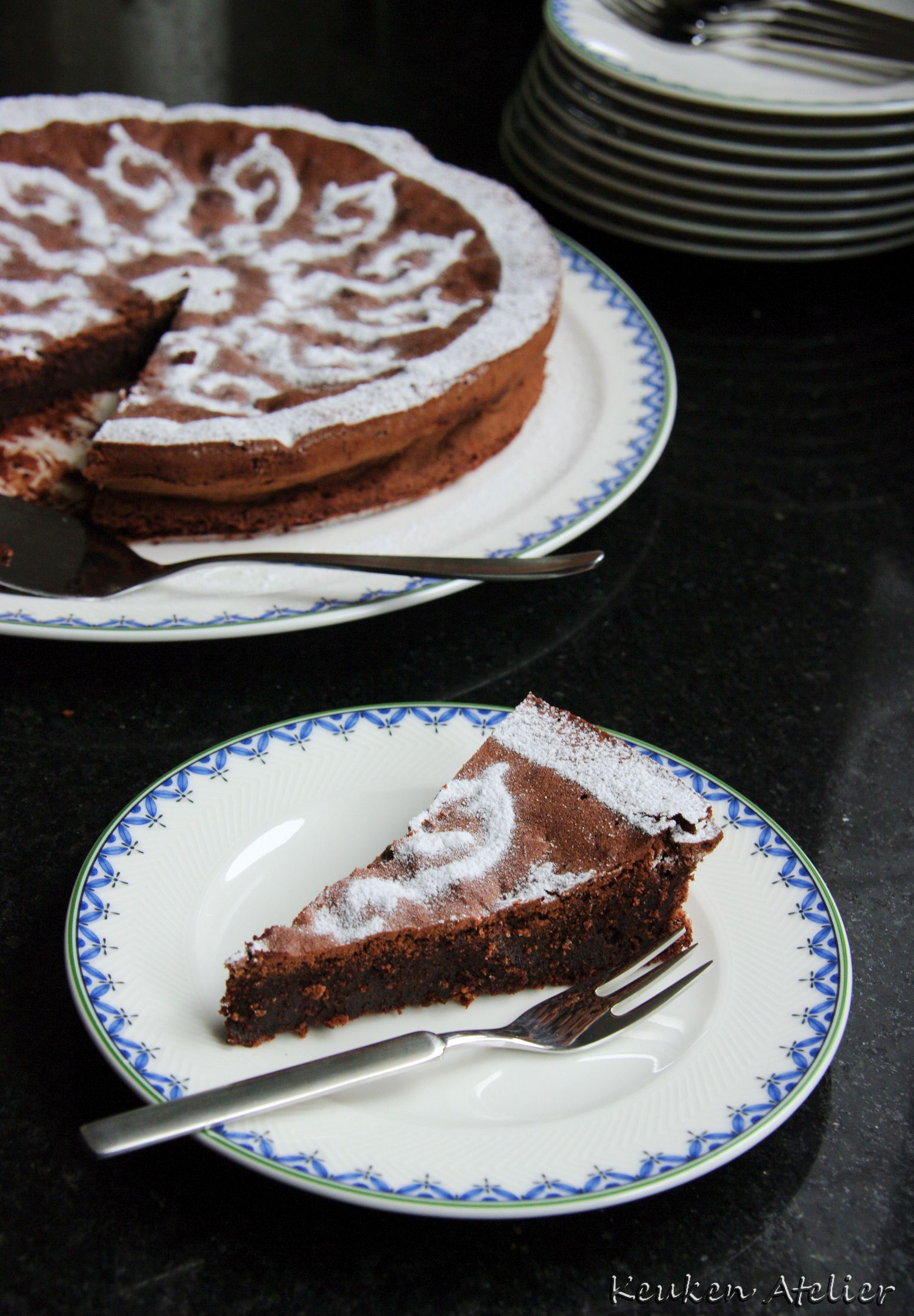 chocolade amaretti taart 4