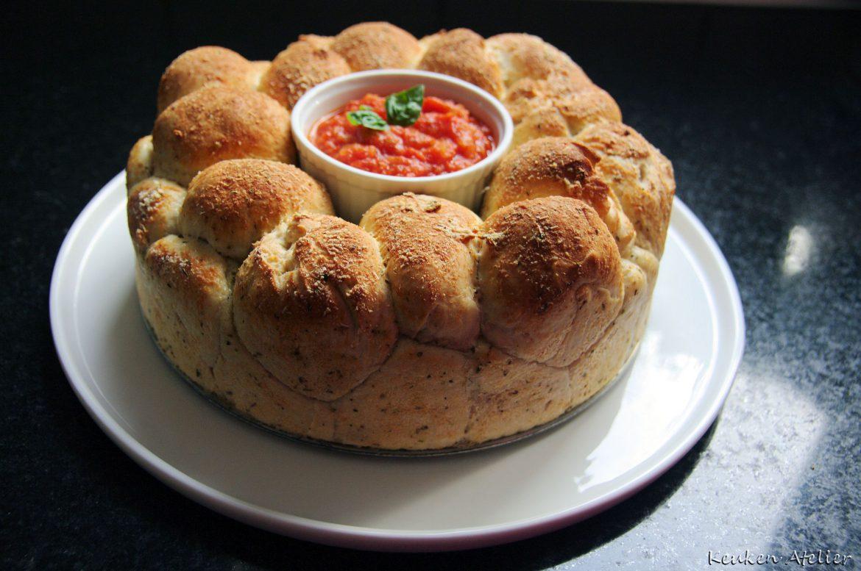 Breekbrood pizza of naturel (Monkey Bread)