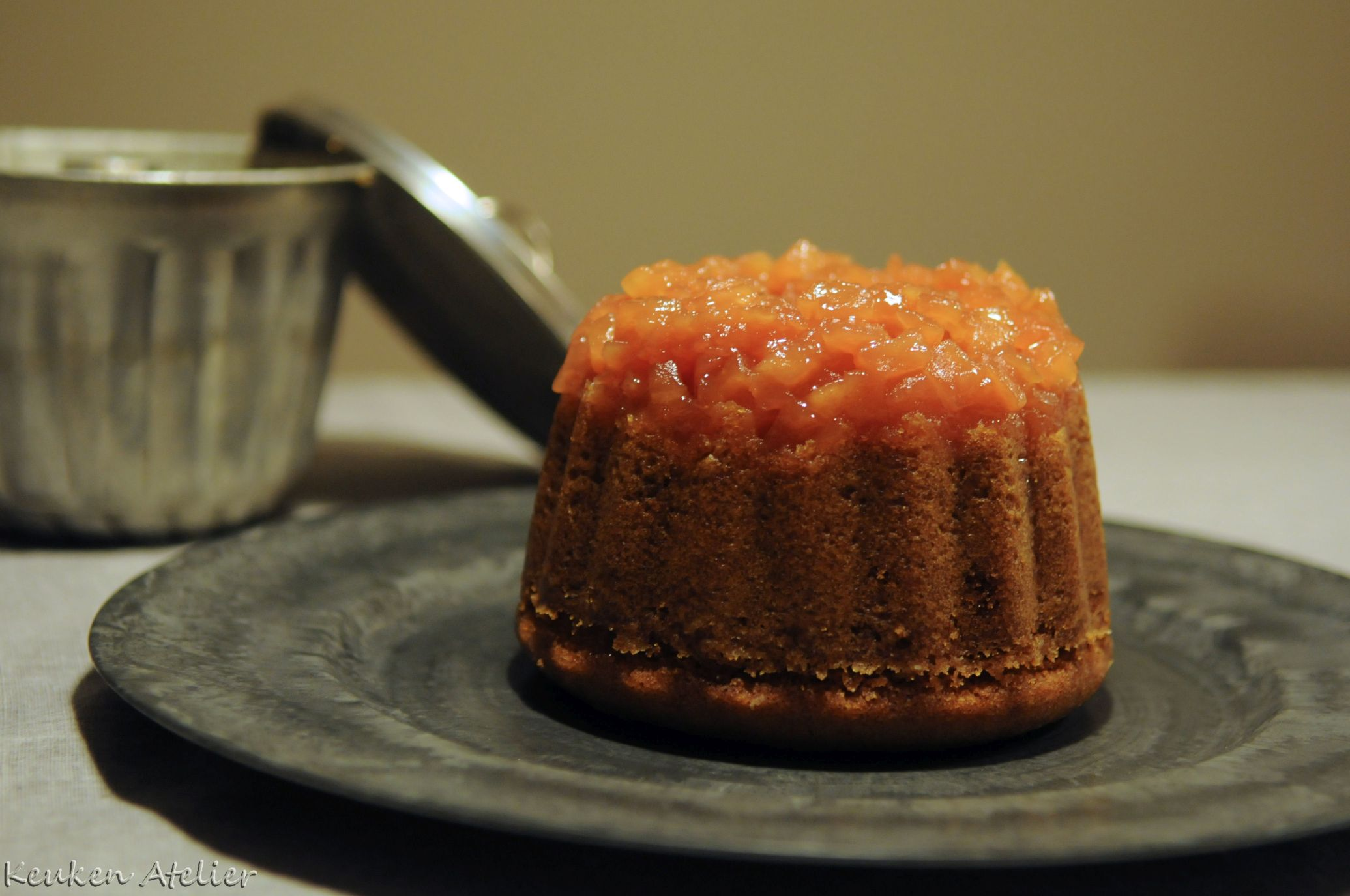 gestoomde appel karamel cake