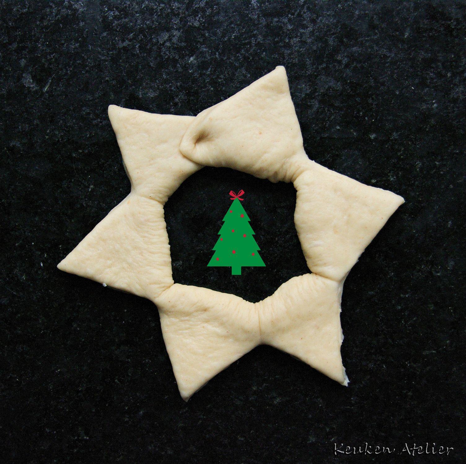 kerstboom broodjes