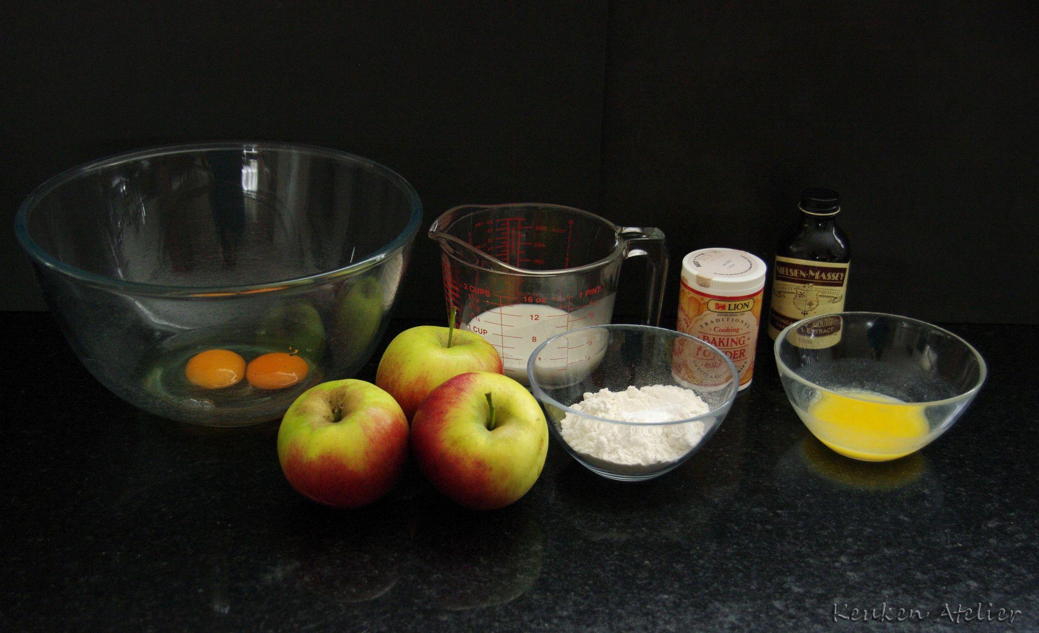 appel custard cake 1
