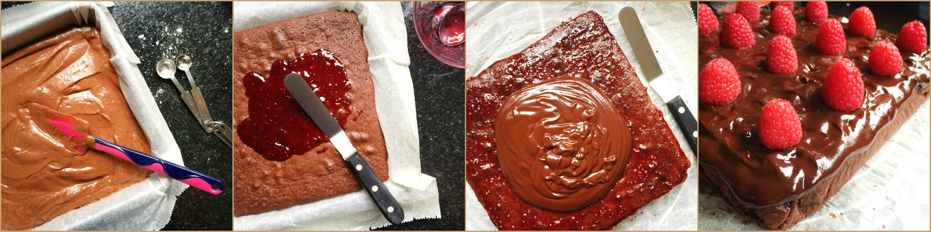 chocolade-plaatcake-collage