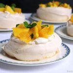 Oranje mini pavlova's
