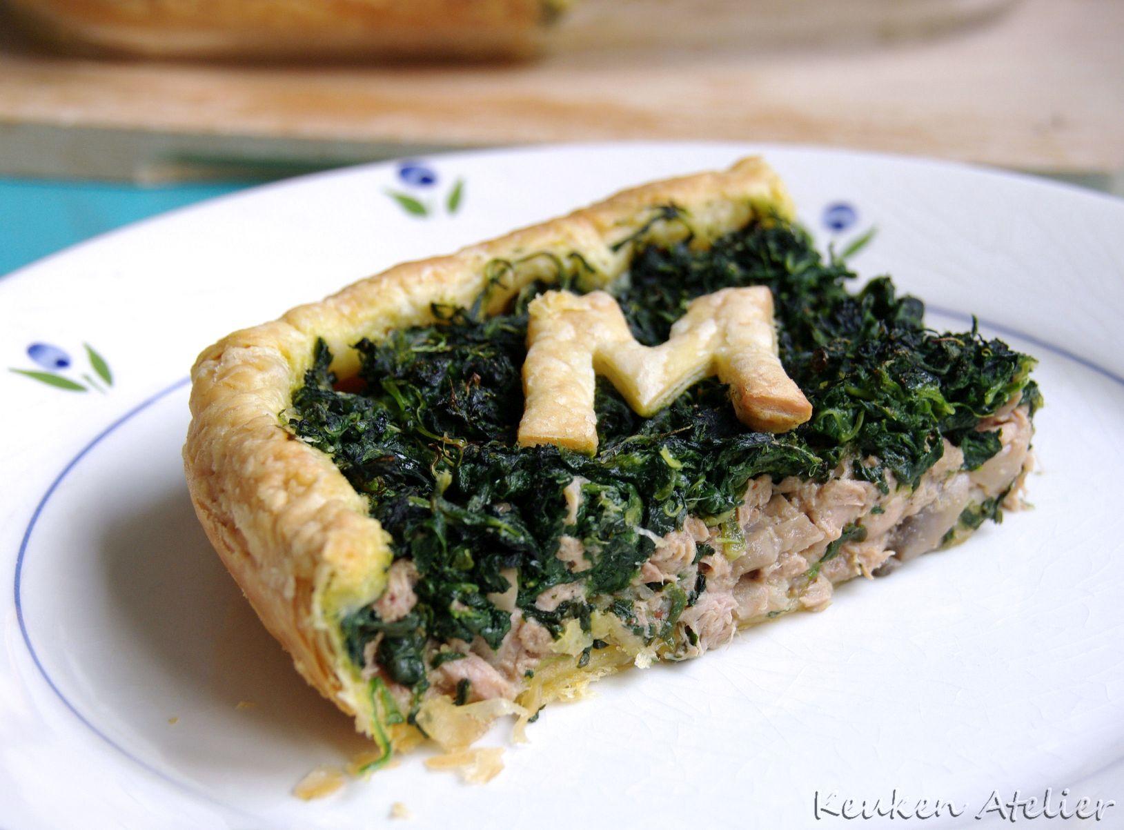 spinazie taart met tonijn 2