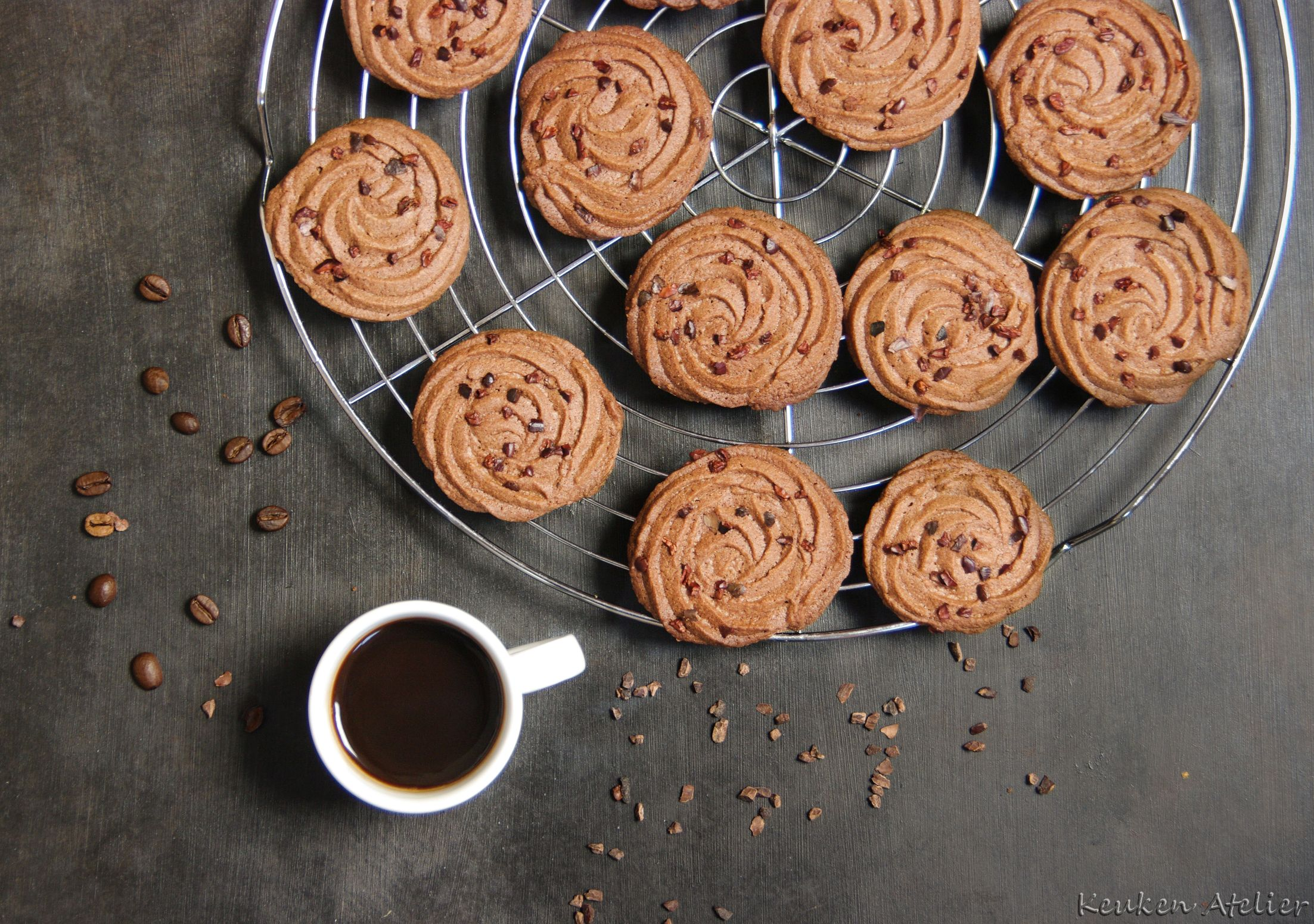 chocolade espresso koekjes