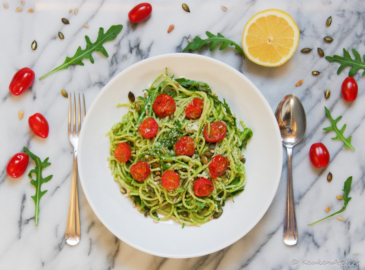 Pasta met avocado pesto