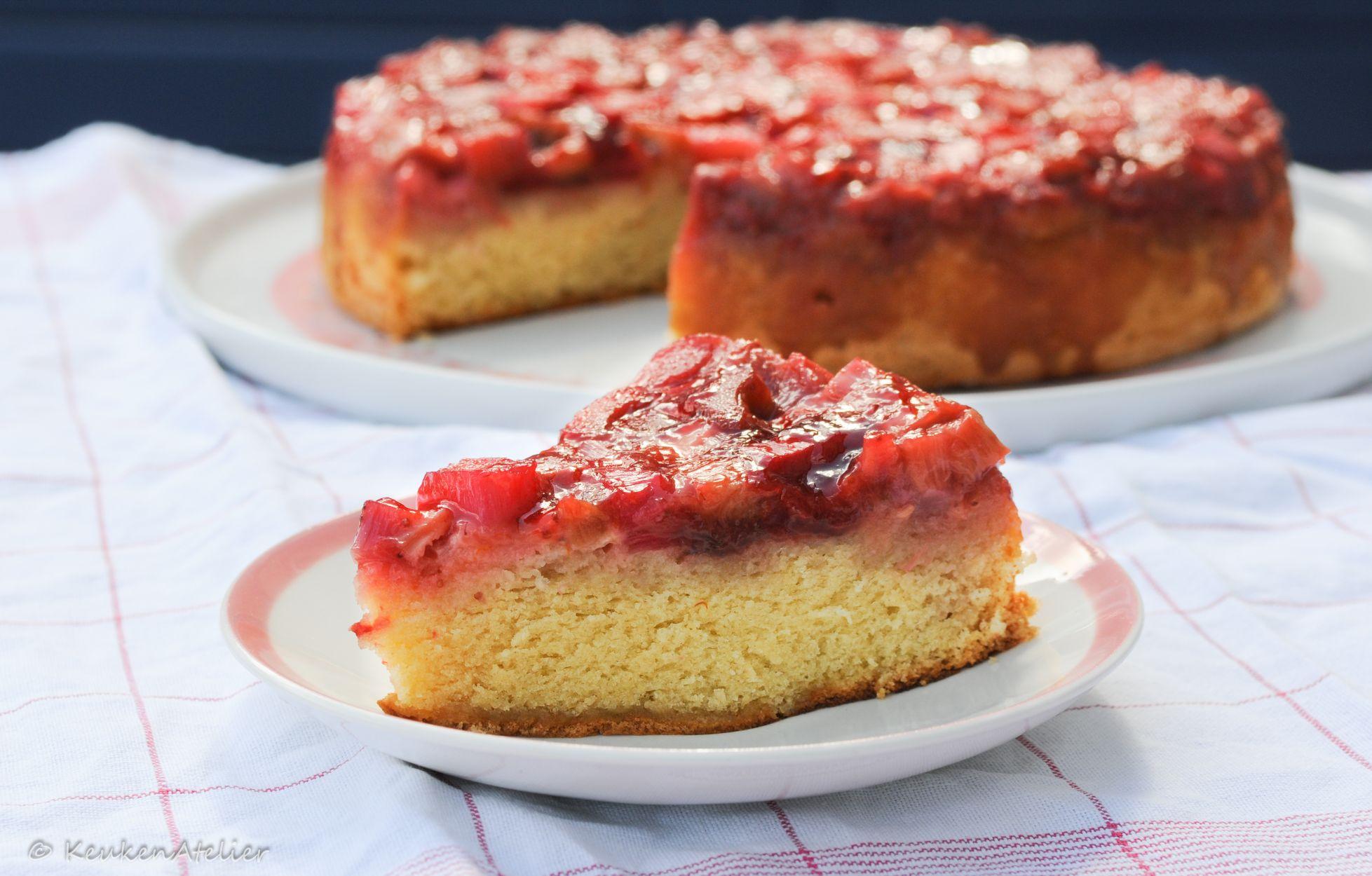 omgekeerde rabarbercake 2