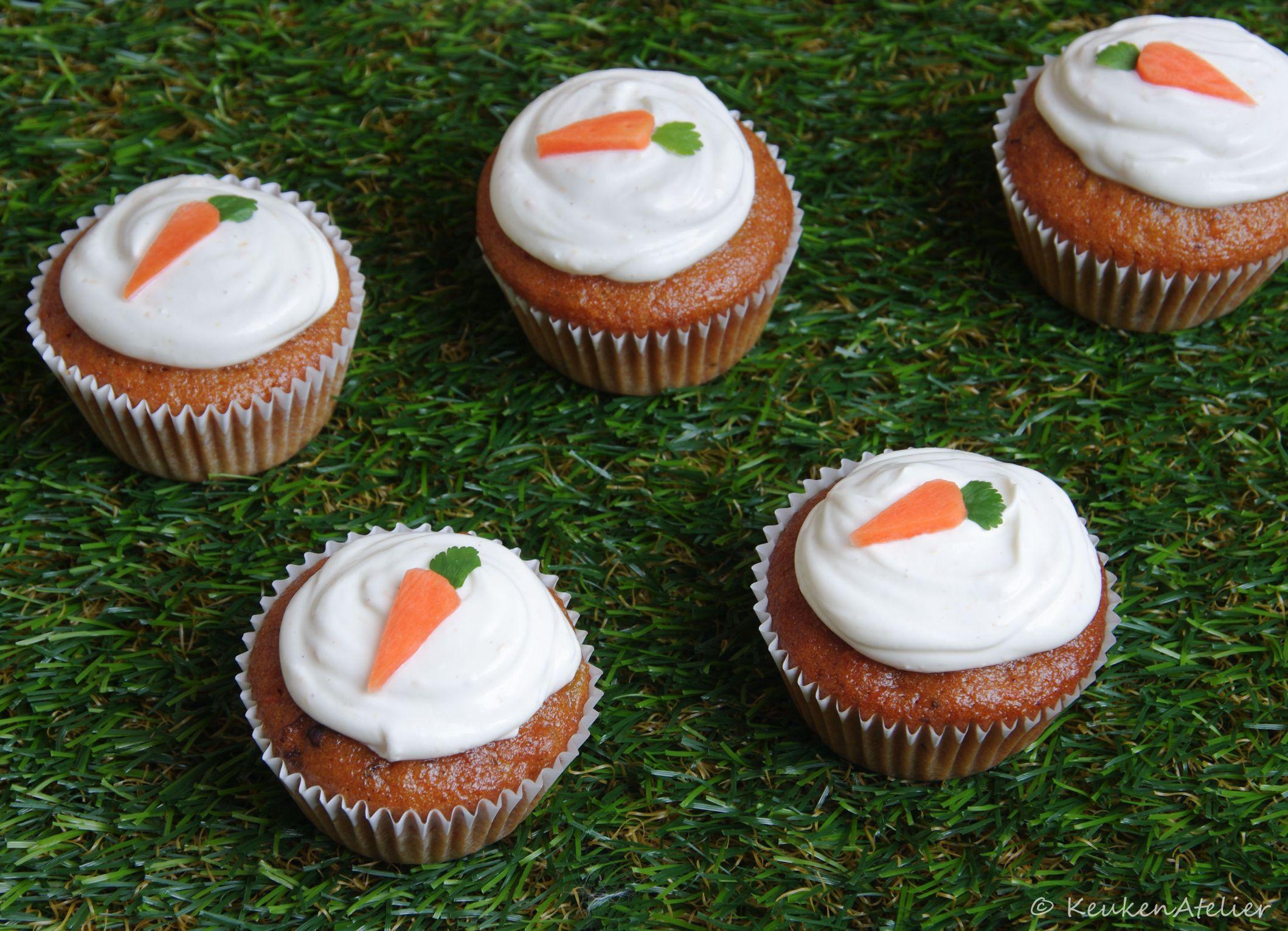 carrot cupcake met abrikoos en sinaasappel 1