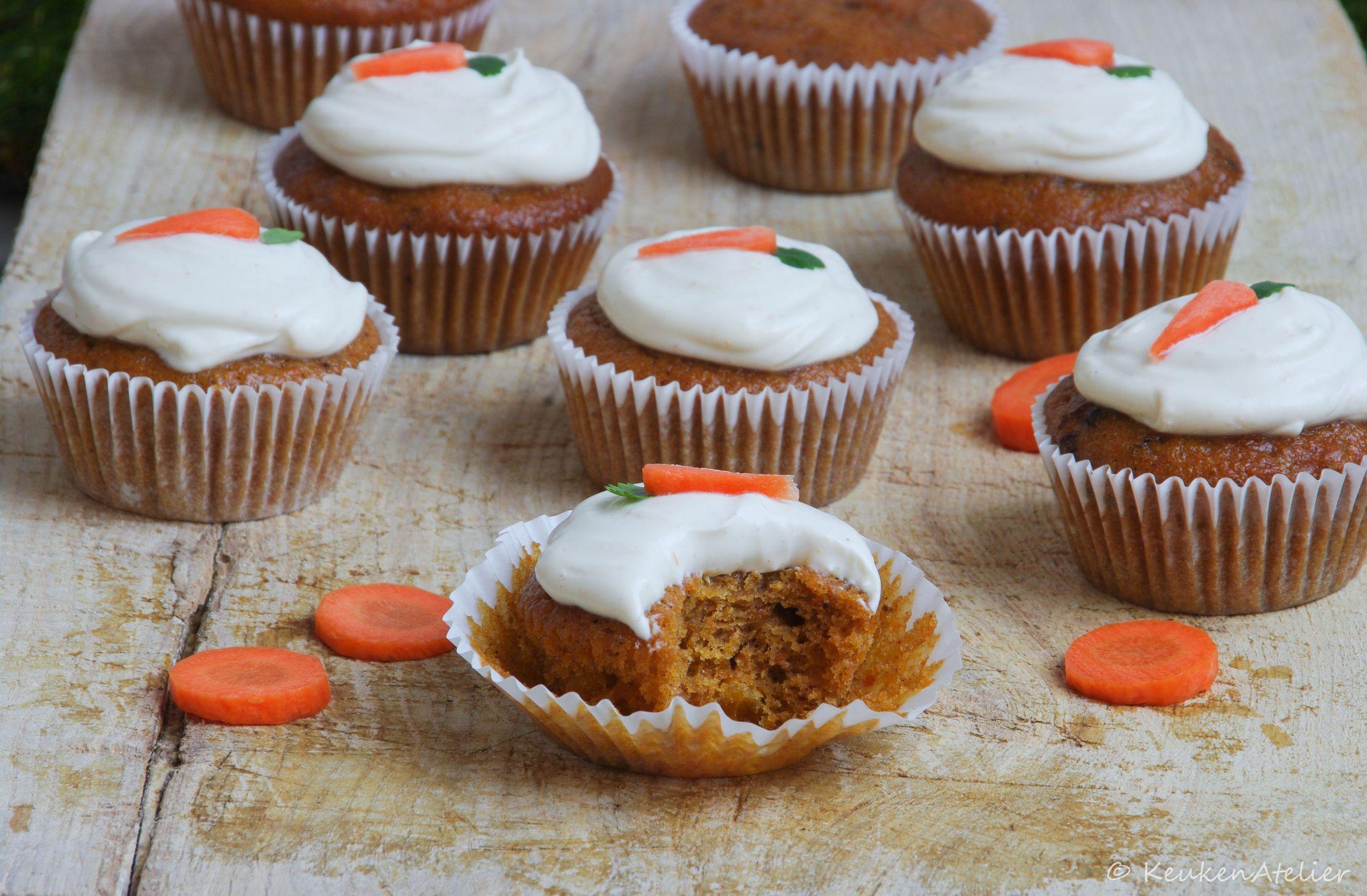 carrot cupcake met abrikoos en sinaasappel 2