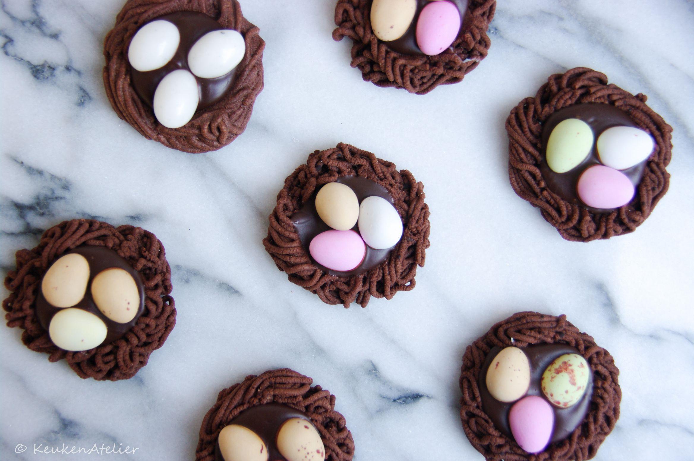 chocolade koek nestjes