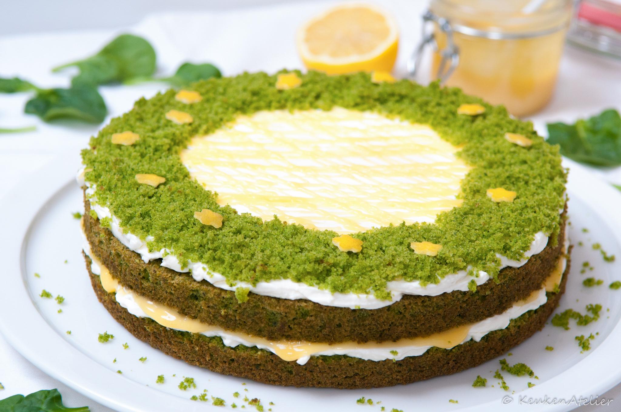 Green Velvet taart 1
