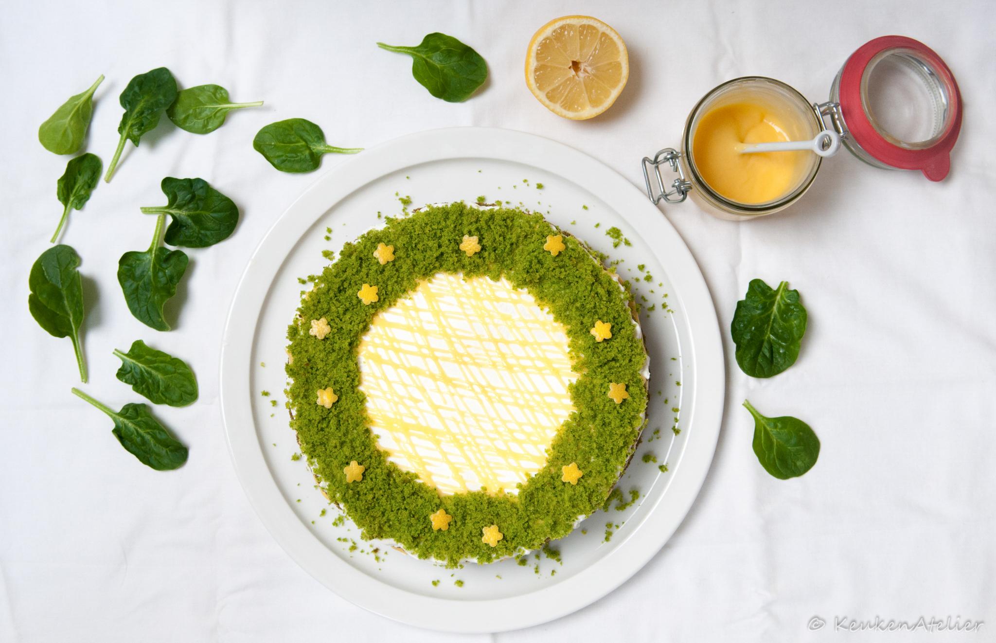 Green Velvet taart 2