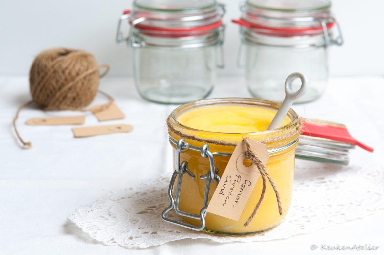 Lemoncurd met passievrucht