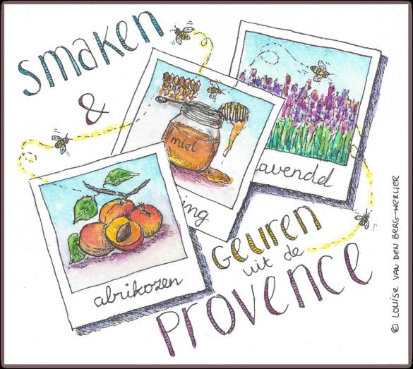 abrikozen galette illustratie