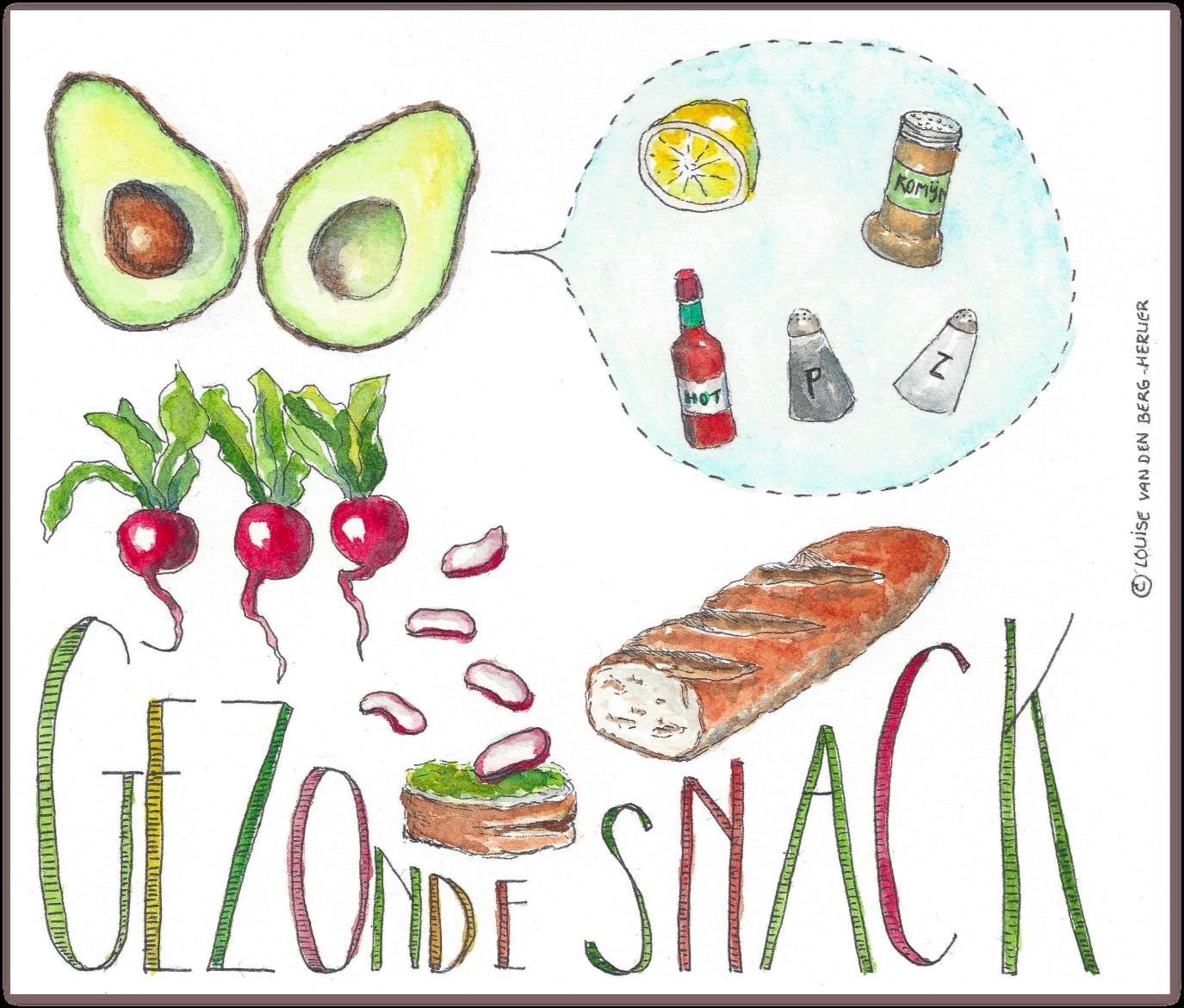 avocado radijs snakcs