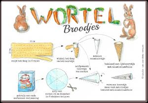 illustratie wortelbroodjes