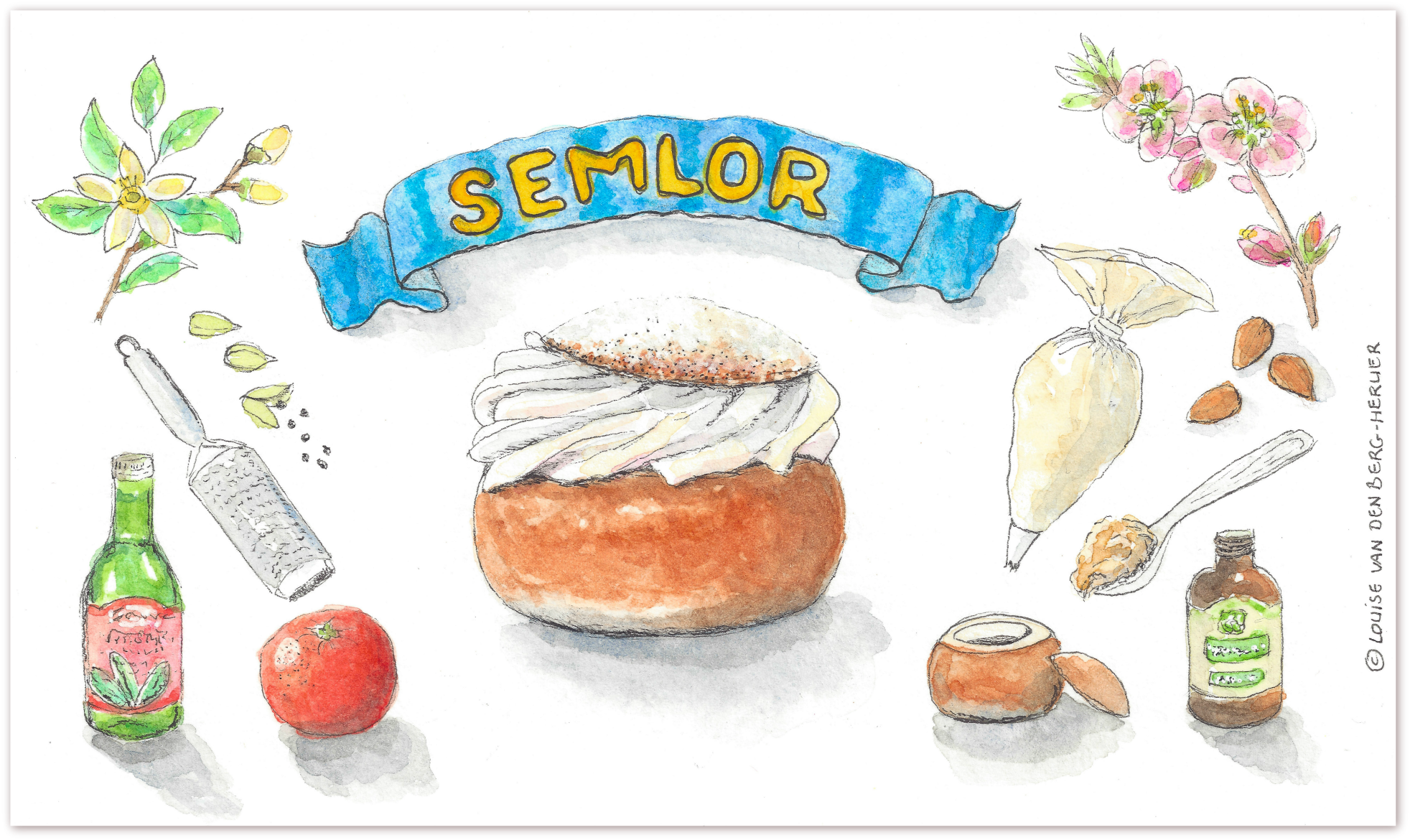 semlor illustratie