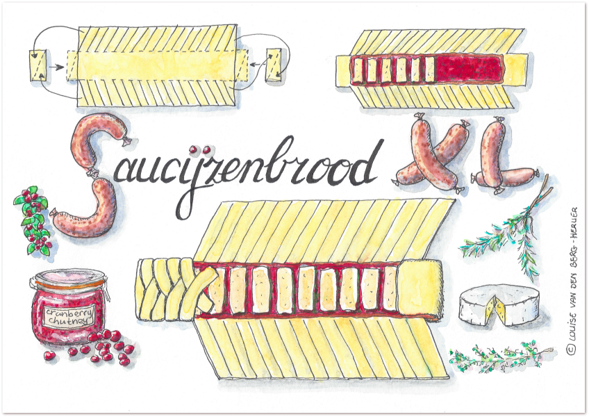 illustratie saucijzenbrood XL