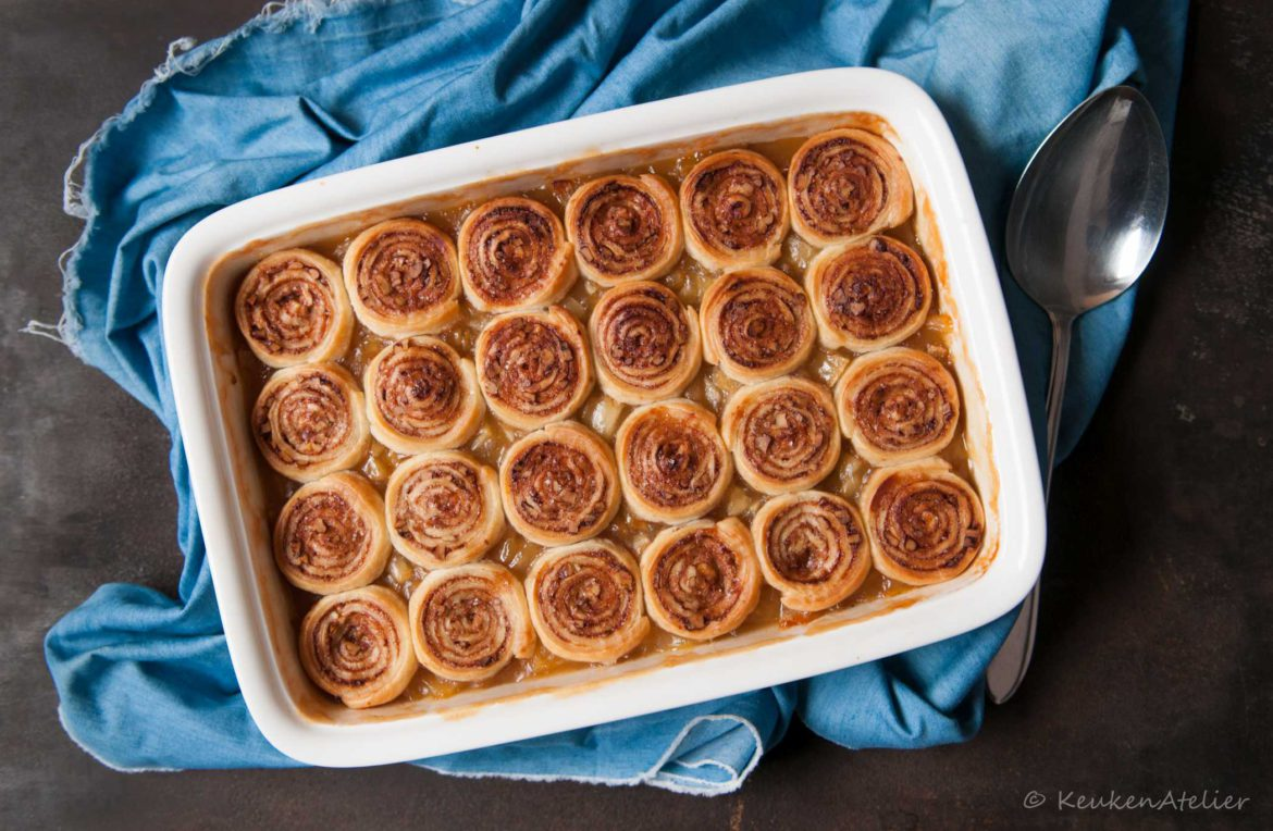 cinnamon roll crumble met appel | KeukenAtelier
