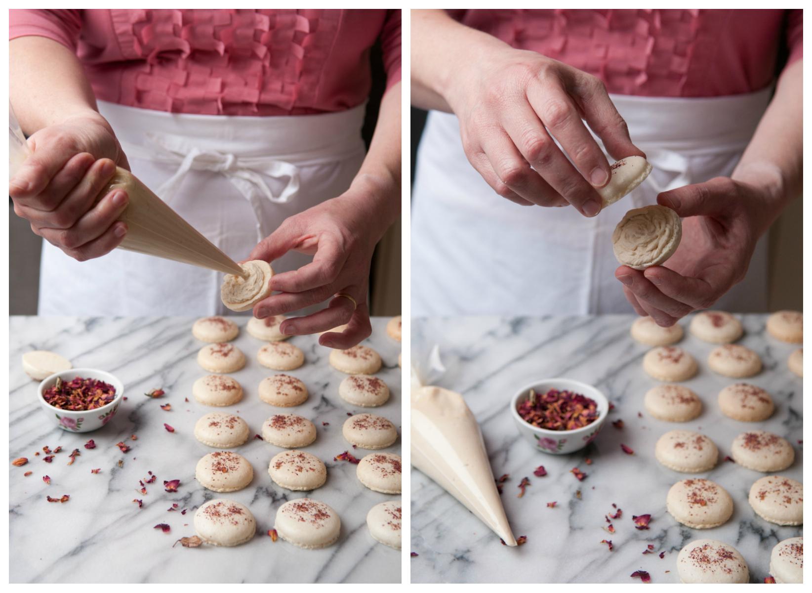macaron met roos en granaatappel|KeukenAtelier