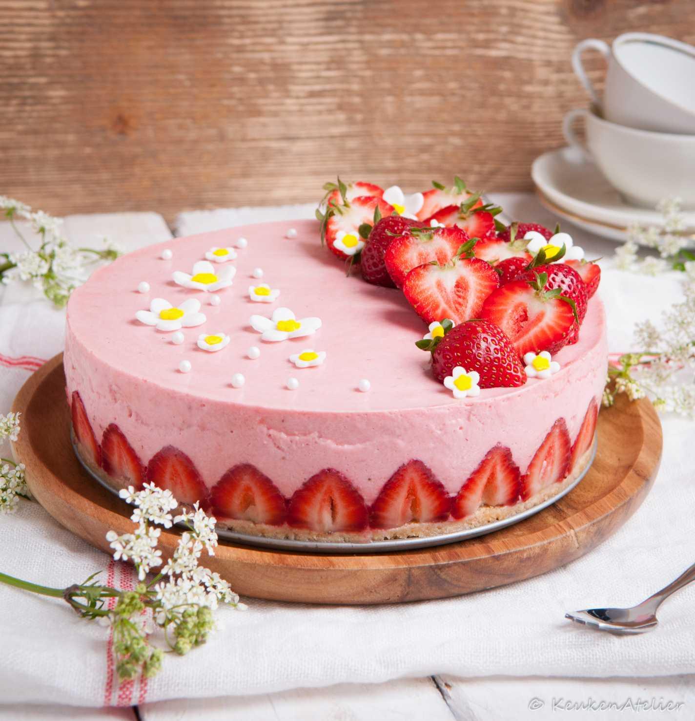 aardbeien kwarktaart 3 | KeukenAtelier