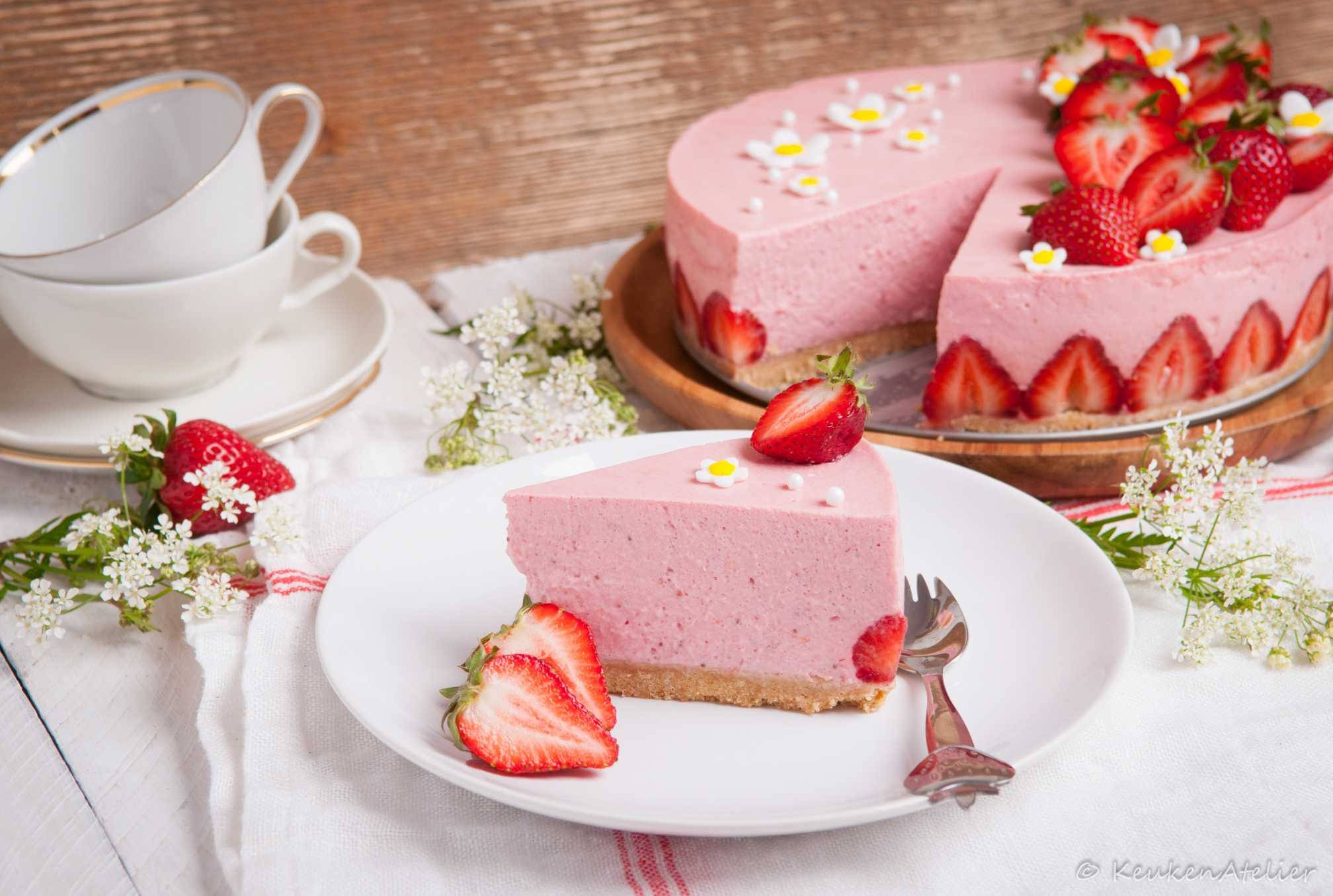 aardbeien kwarktaart 4 | KeukenAtelier