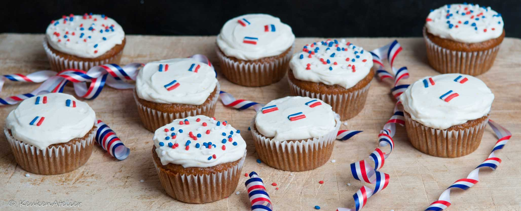 Bevrijdingsdag cupcake - KeukenAtelier