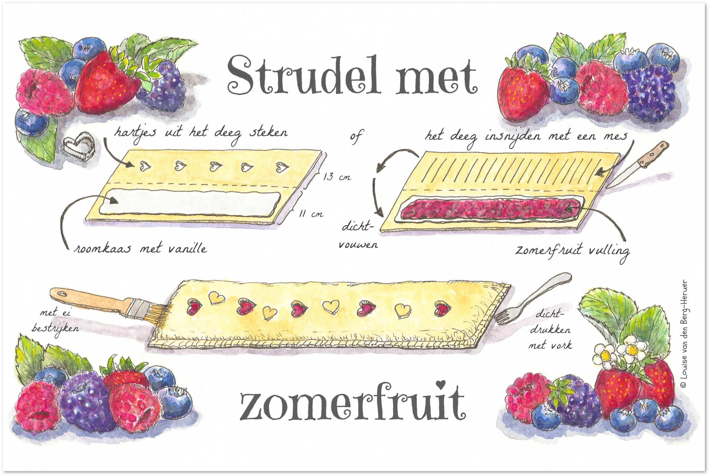 illustratie zomerfruit strudel | KeukenAtelier
