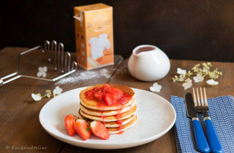 ricotta pancakes met aardbei en anijs   keukenAtelier