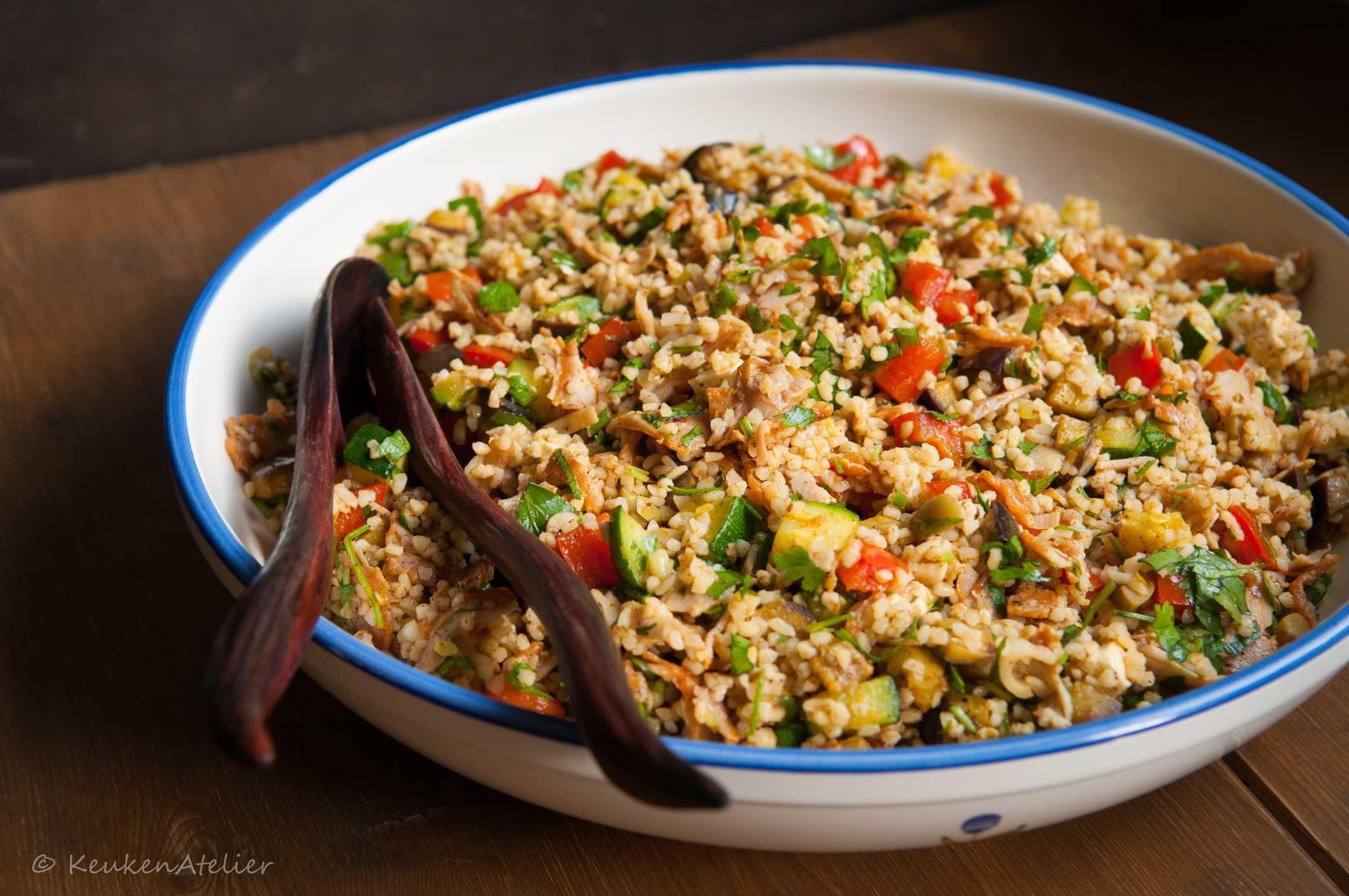 Bulgur salade met ras el hanout 1 | KeukenAtelier