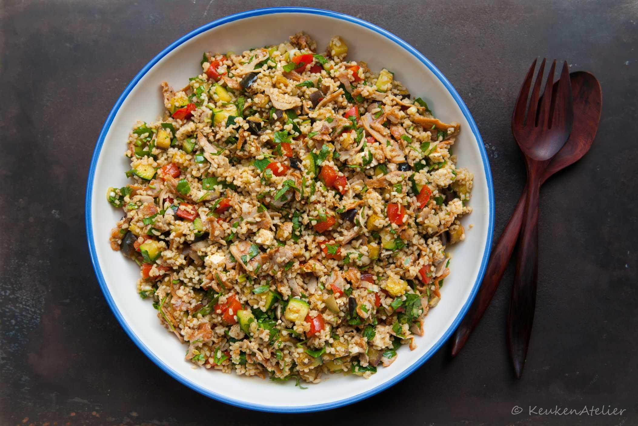 Bulgur salade met ras el hanout 2   KeukenAtelier