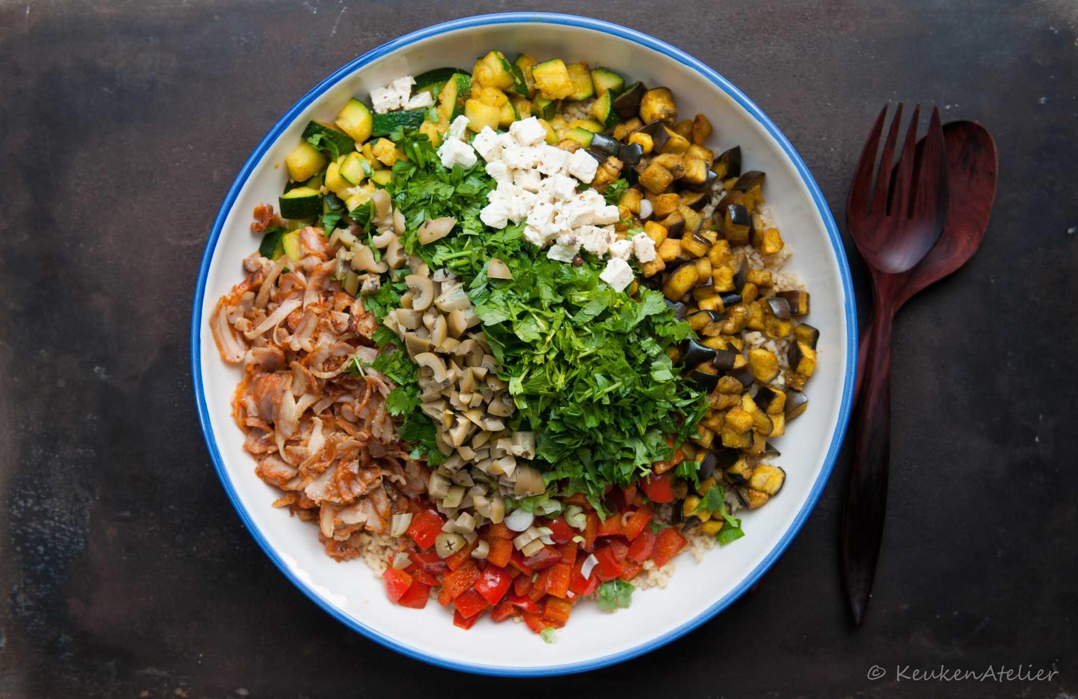 Bulgur salade met ras el hanout 3   KeukenAtelier