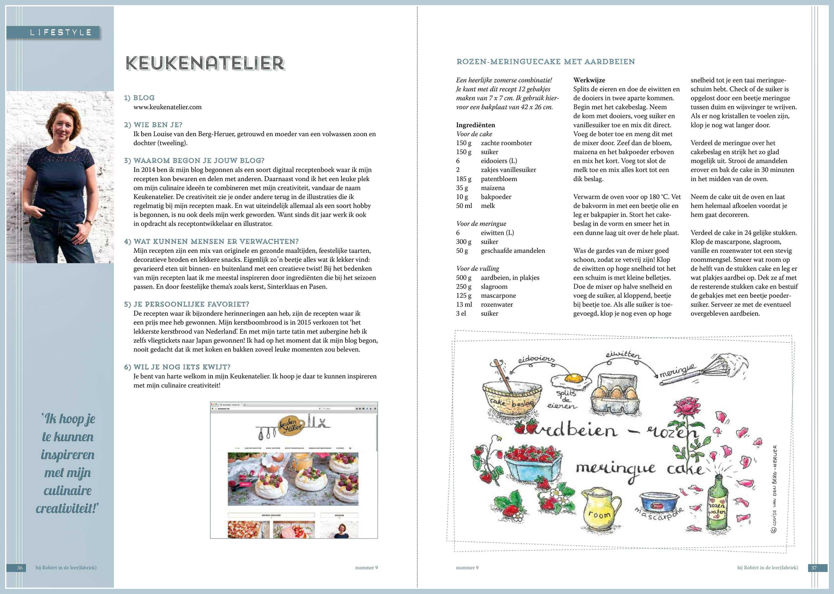 KeukenAtelier in magazine bij Robert