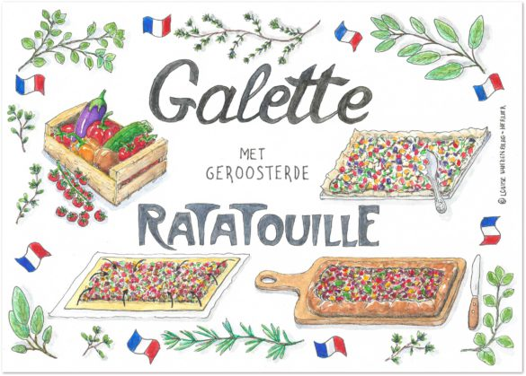 illustratie galette met ratatouille   KeukenAtelier