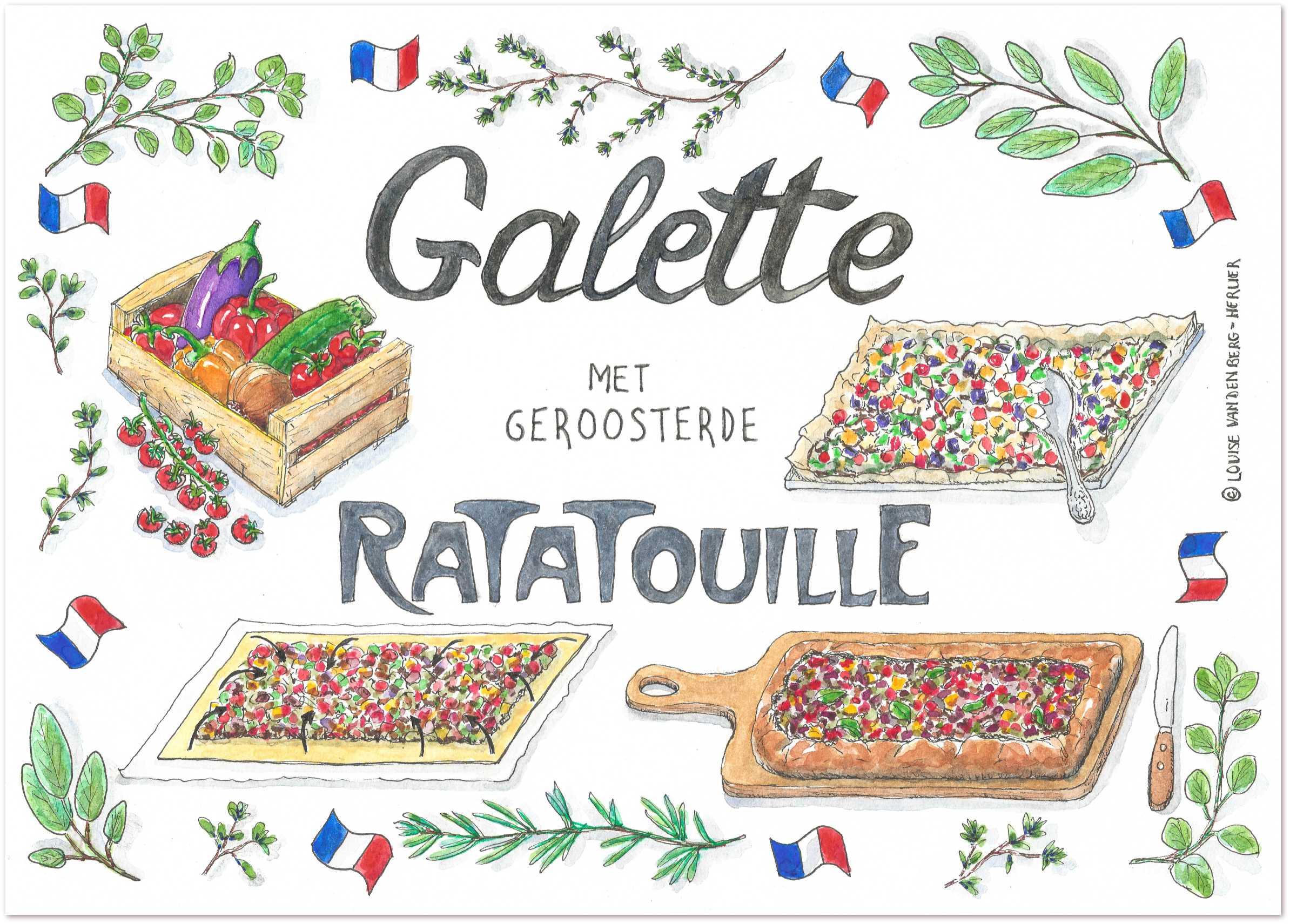 illustratie galette met ratatouille | KeukenAtelier