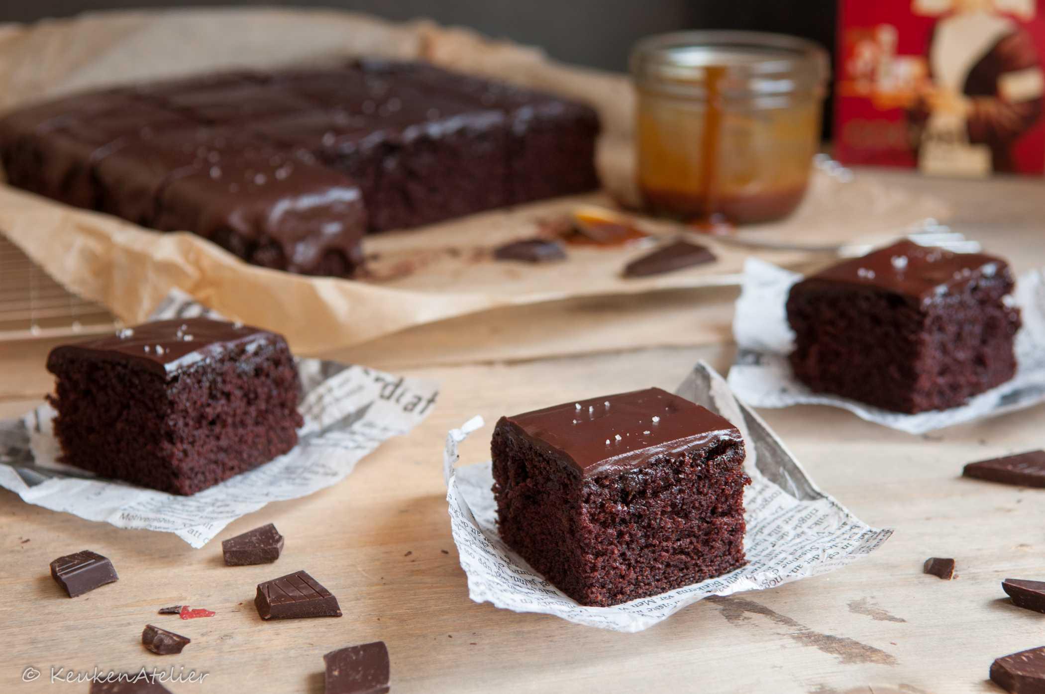 chocolade karamel cake 1   KeukenAtelier