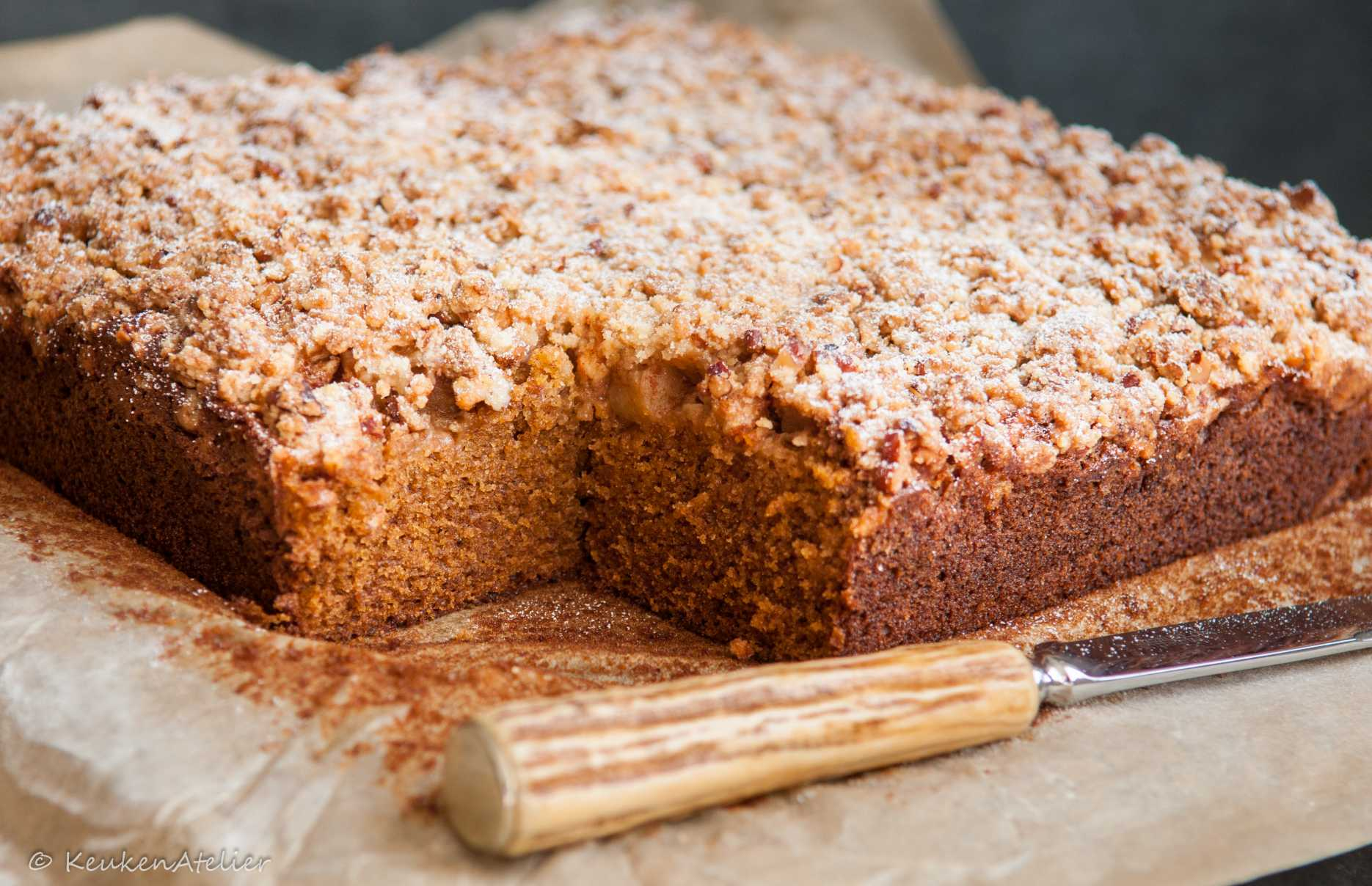 pompoencake met appel en pecankruimel 2e | KeukenAtelier