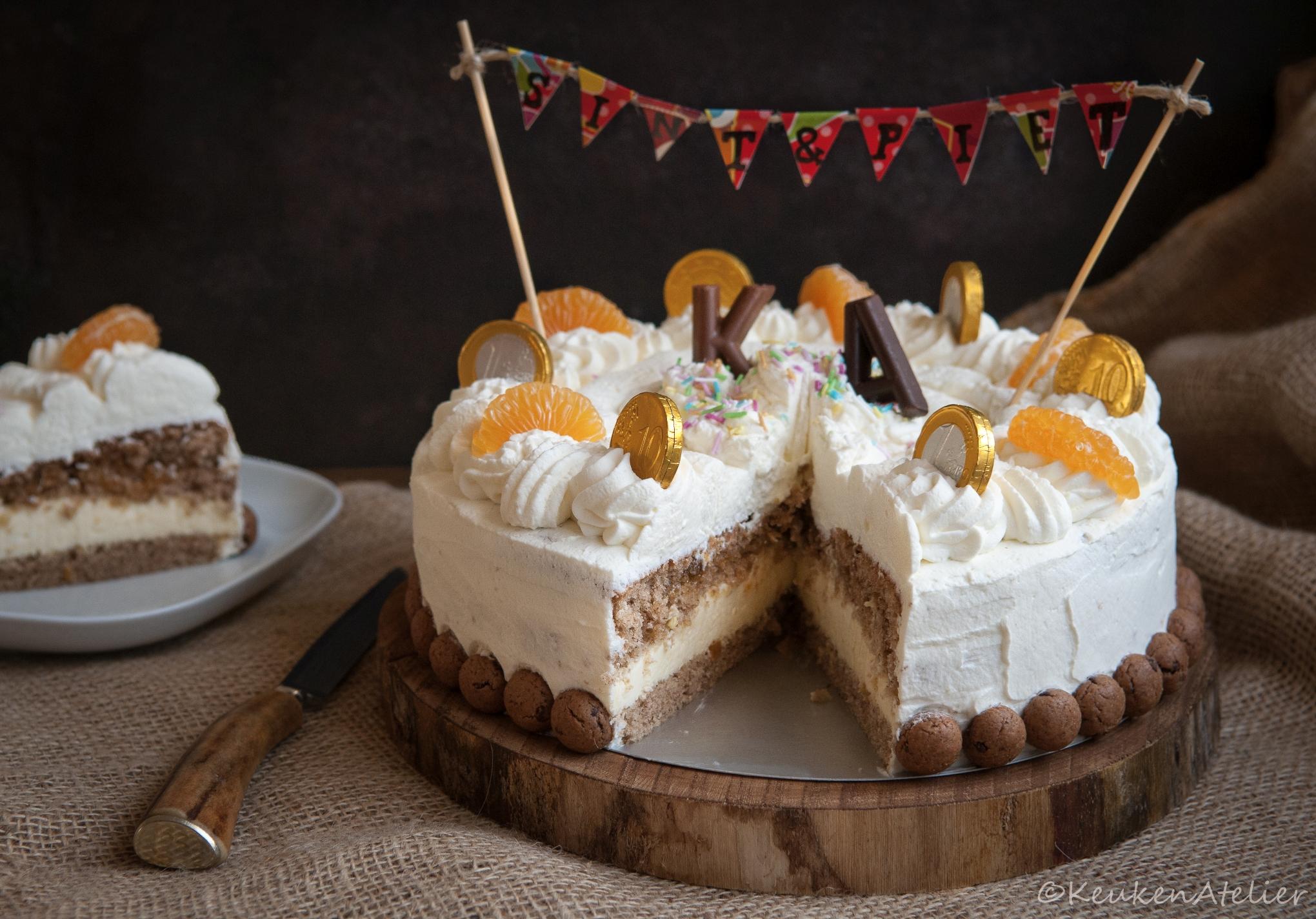 Sinterklaas taart stukje | KeukenAtelier