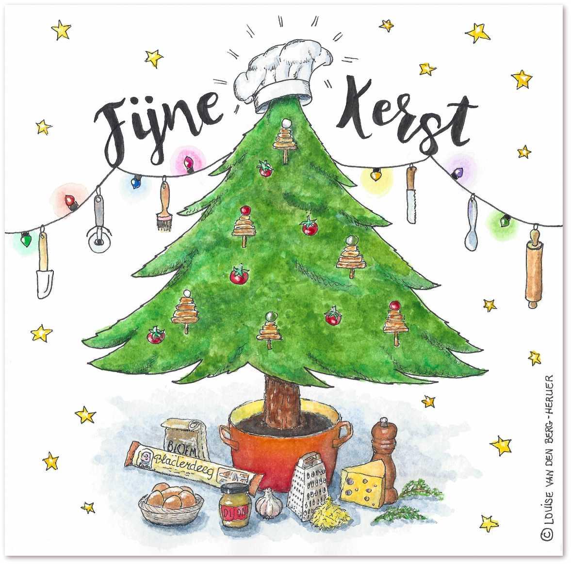 Illustratie kerstrecept KeukenAtelier