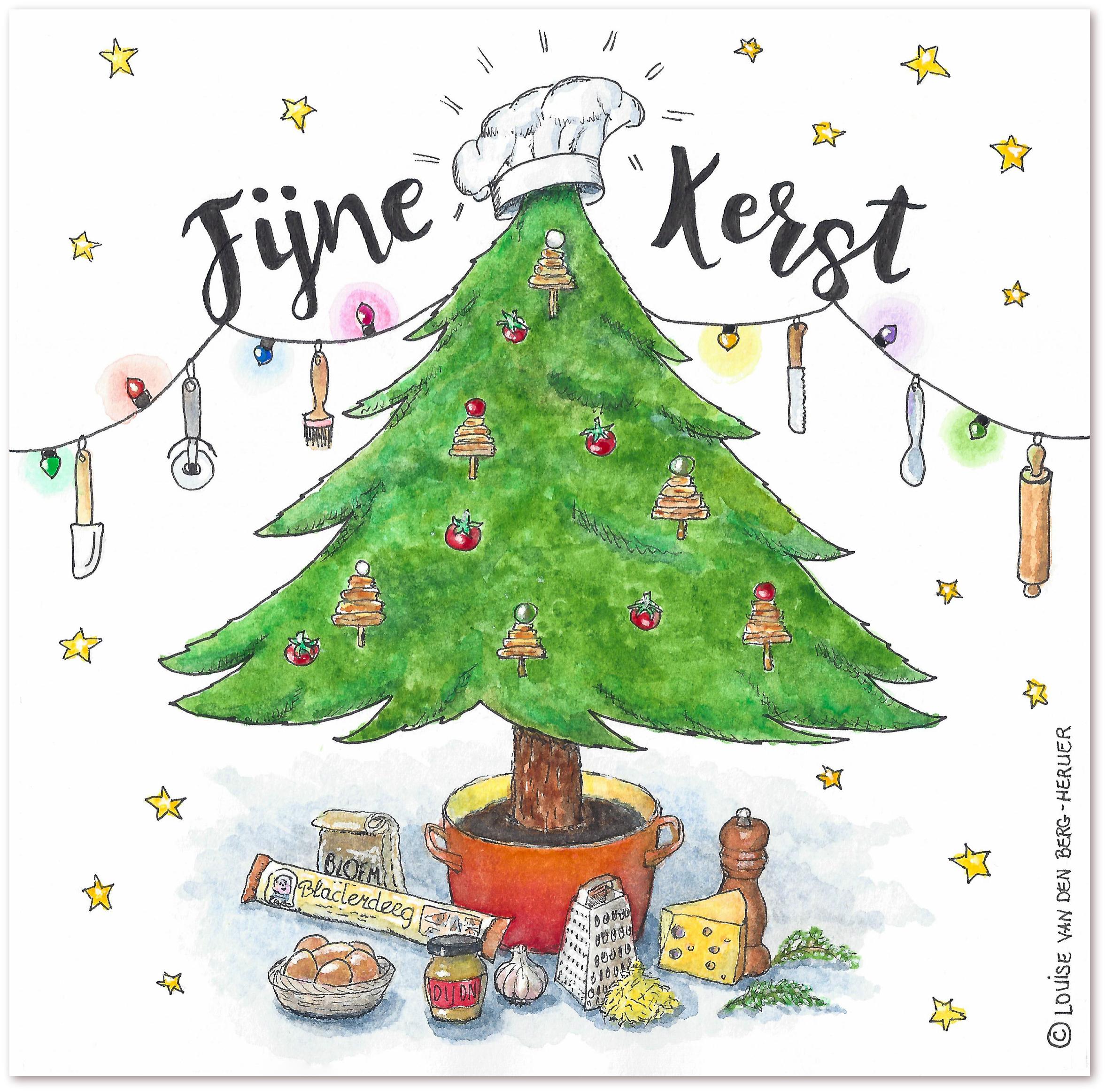 illustratie Kerstboom kaaskoekjes | KeukenAtelier
