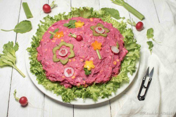 Surinaamse aardappelsalade met bietjes | KeukenAtelier