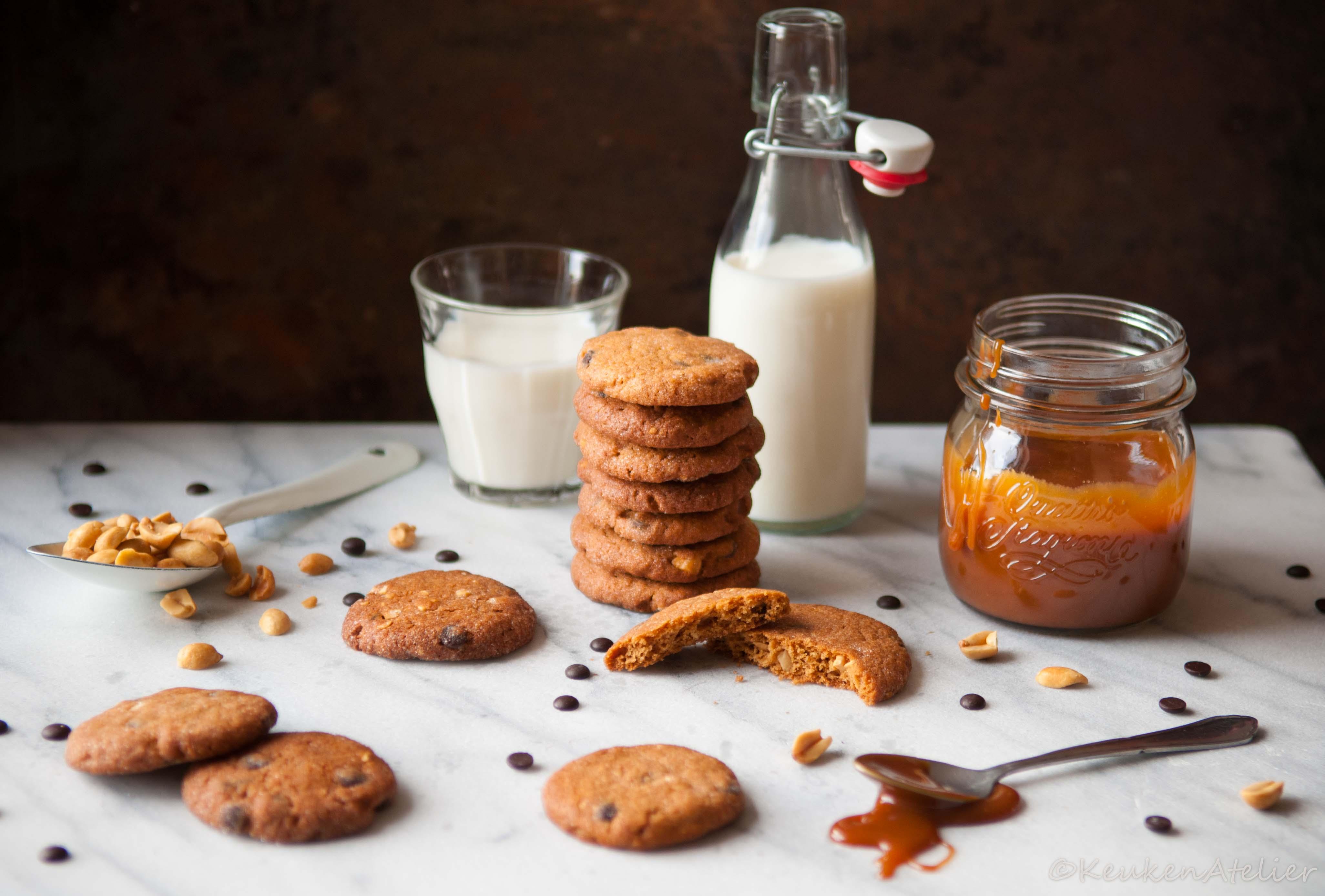 Chocolate chip cookie met pinda en karamel 1   KeukenAtelier.com