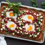Shakshuka pizza - KeukenAtelier.com