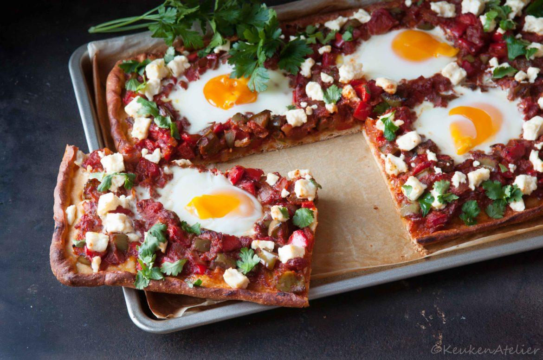 Shakshuka pizza stukje - KeukenAtelier.com