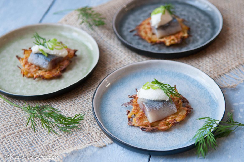 Pastinaak rösti met haring en mierikswortel | KeukenAtelier.com