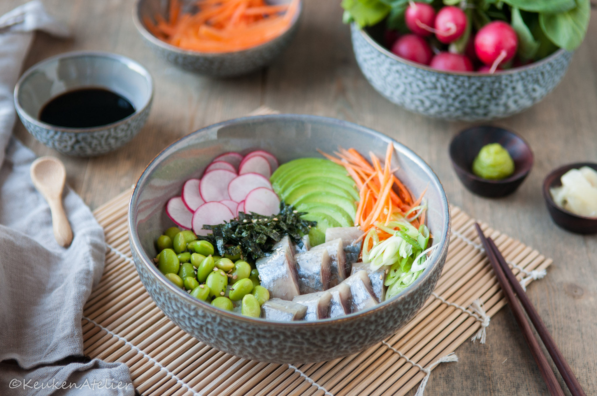 Sushi bowl met haring | KeukenAtelier.com