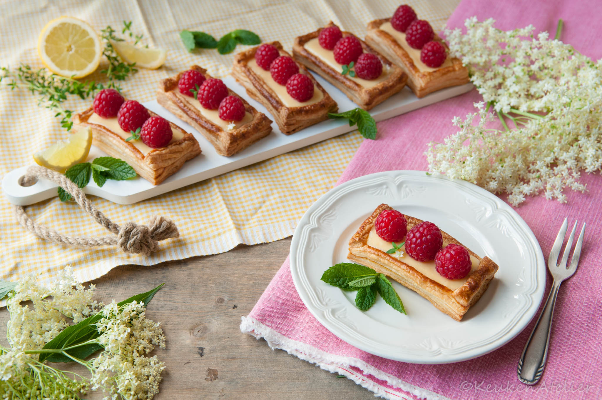 citroen frambozen taartjes 1 | KeukenAtelier.com