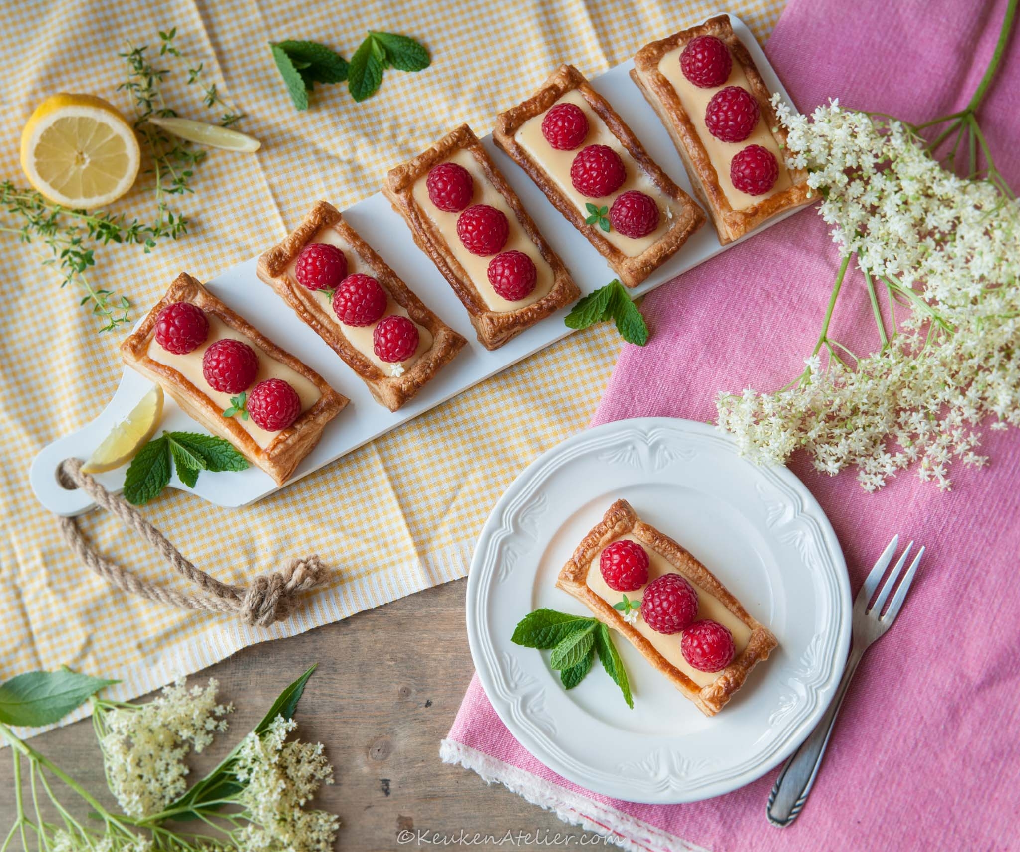 citroen frambozen taartjes 2 | KeukenAtelier.com