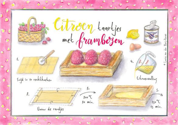 Illustratie Citroentaartjes KeukenAtelier
